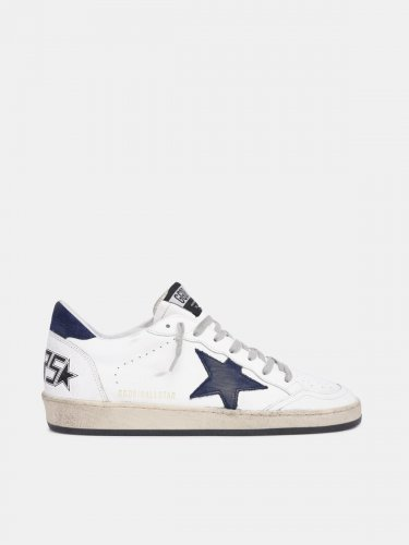 White Ball Star sneakers with blue star